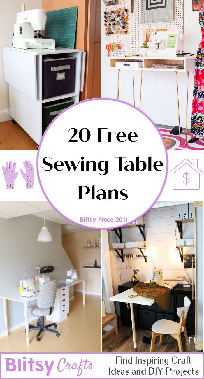 20 Free Sewing Table Plans