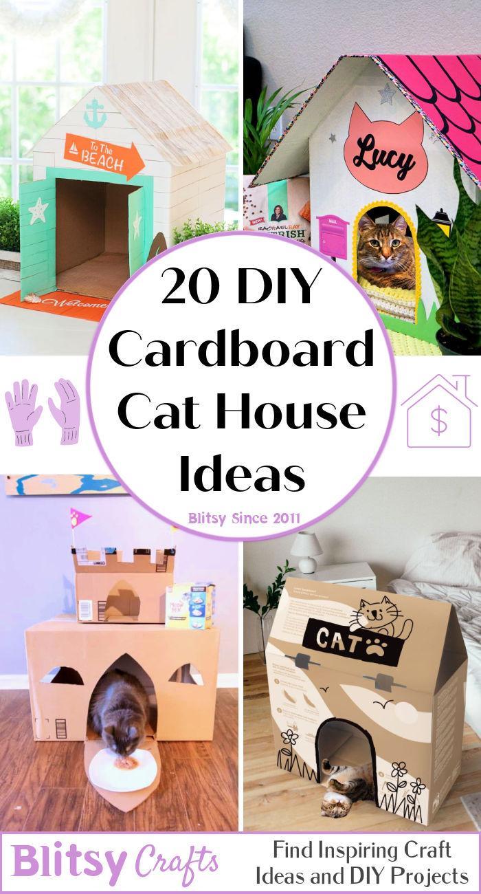20 cheap DIY Cardboard Cat House Ideas