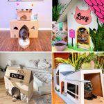 20 inexpensive DIY Cardboard Cat House Ideas