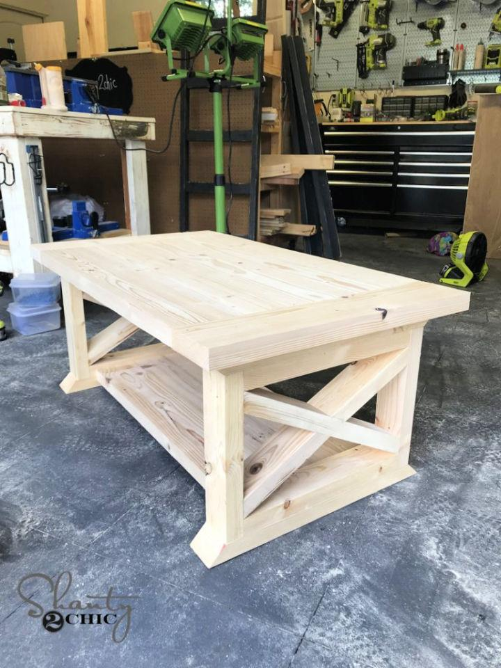 8 Board Farmhouse Coffee Table