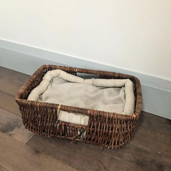 Basket Cat Bed Thrift Store Upcycle Challenge