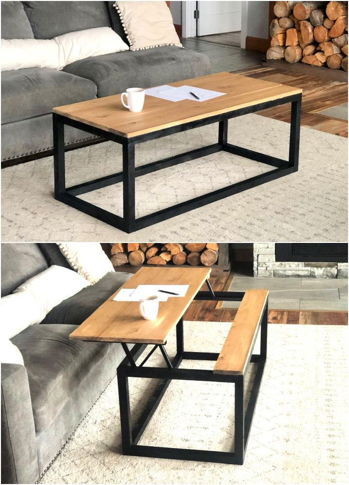 Box Frame Coffee Table with Lift Top