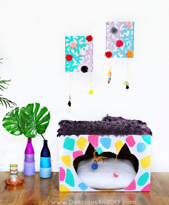 Bright And Colorful Cat House