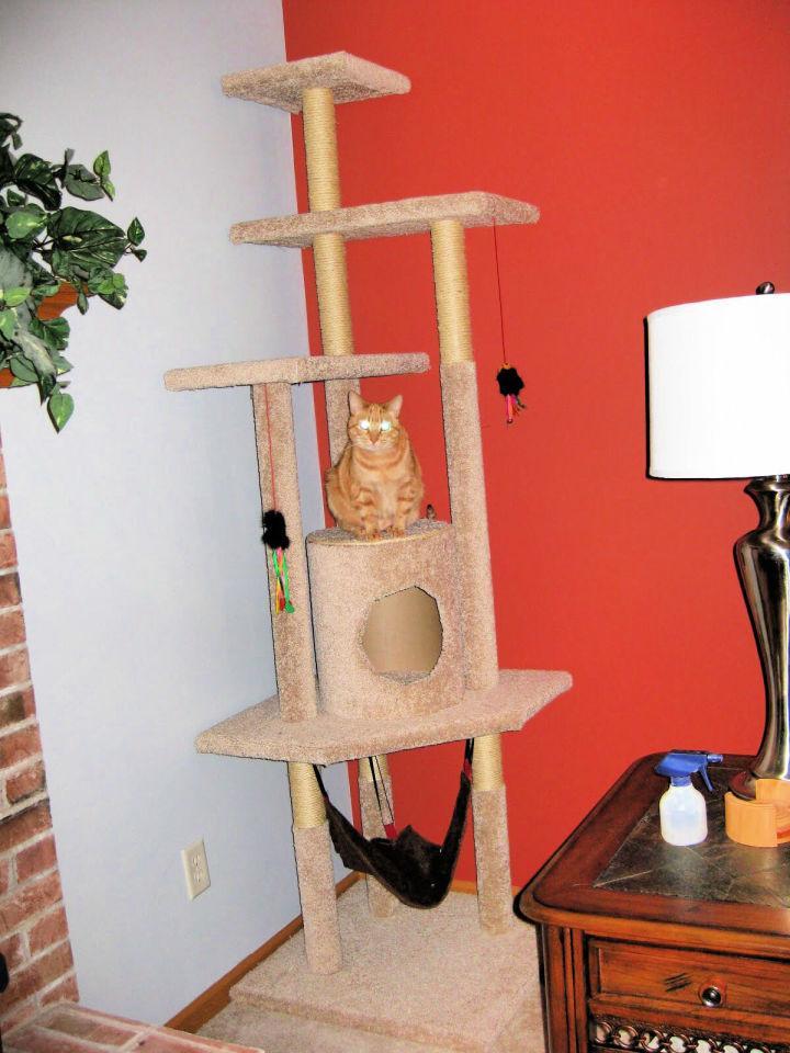 Build A Cat Tree With Hammock