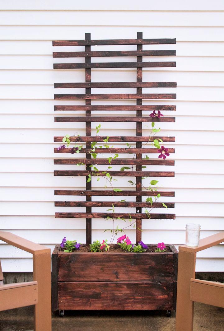 Build A Trellis Planter Box