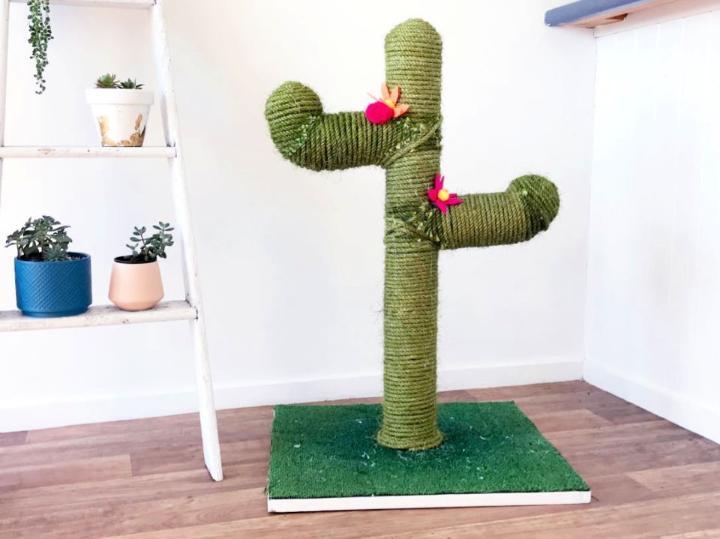 Cactus DIY Cat Scratching Post
