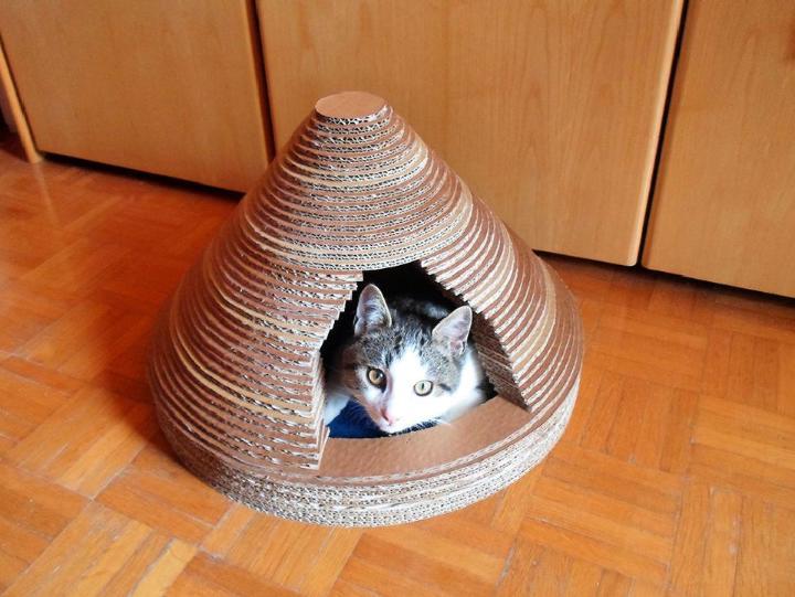 Cardboard Cat Condo