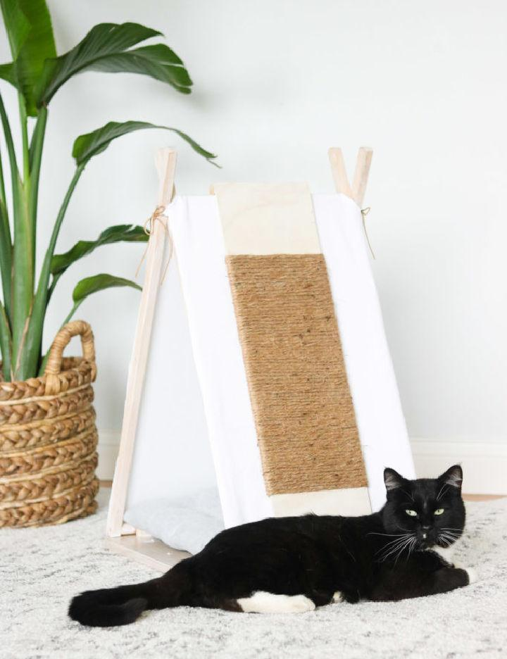 Cat House Tepee From An Old TV Tray