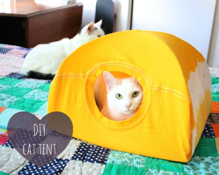 Covered Cat Tent Bed