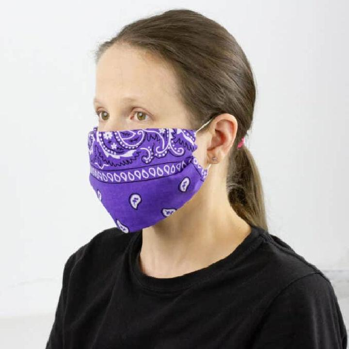 DIY No sew Bandana Mask