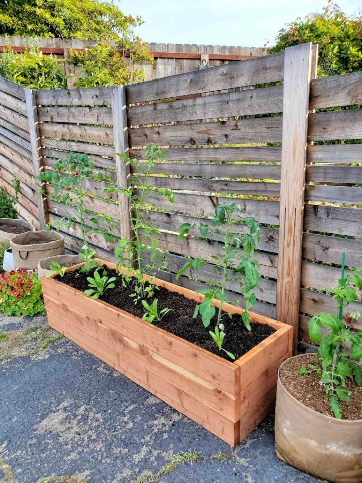 DIY Raised Garden Bed on Concrete