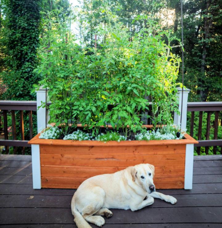 DIY Self Watering Vegetable Planter Box