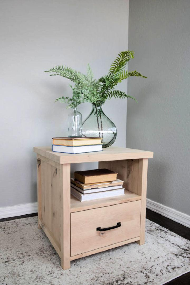 DIY Side Table with Drawers
