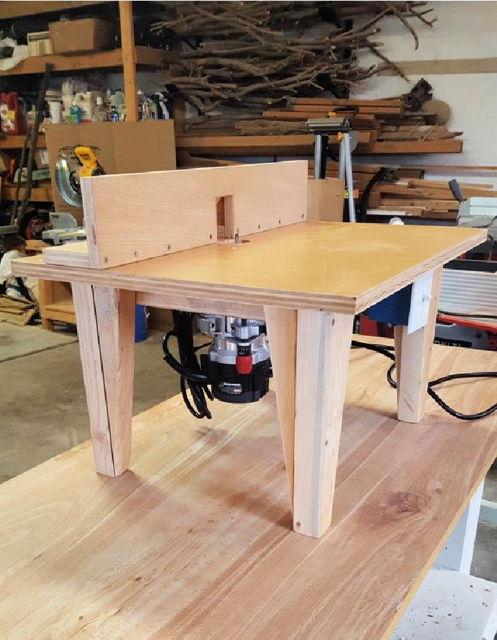 DIY Trim Router Table
