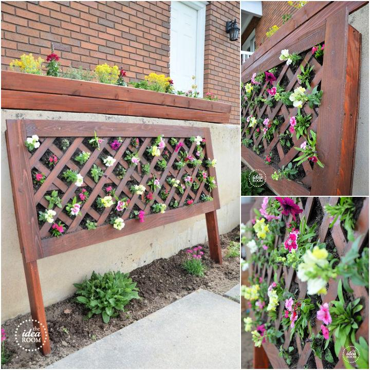 DIY Vertical Flower Bed