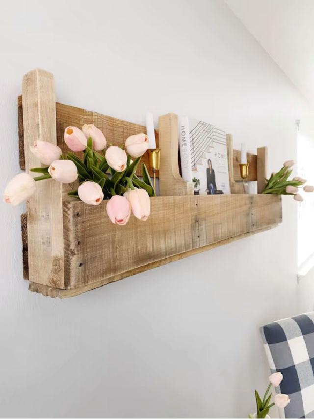 Easy DIY Pallet Wood Shelves