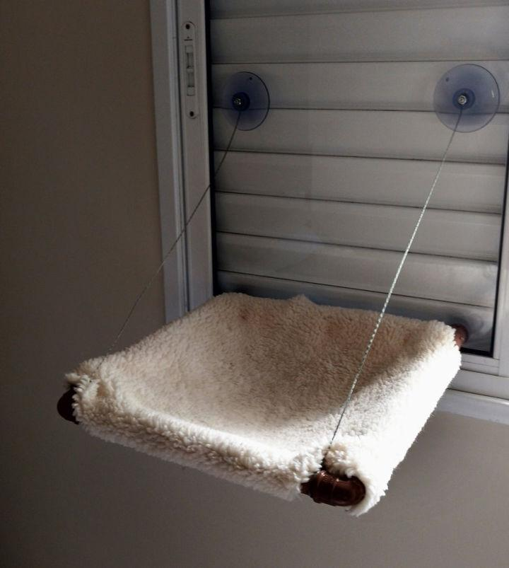 Glass Mounted Hanging Cat Bed
