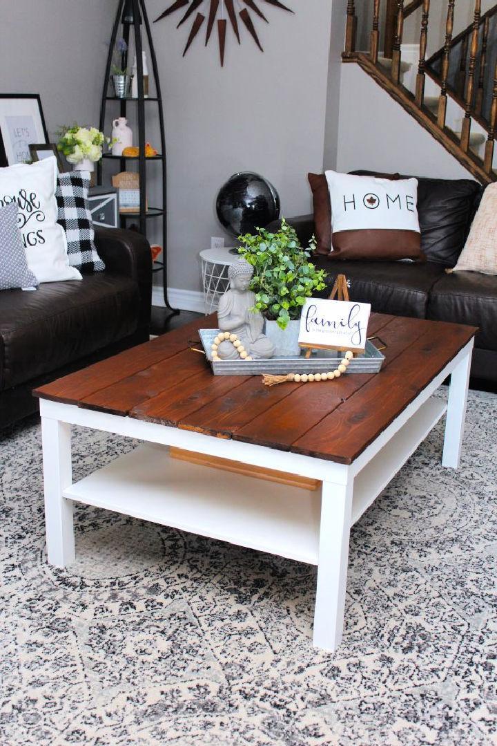 Homemade Farmhouse Coffee Table