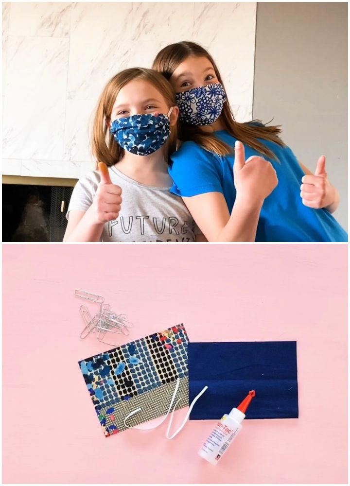 Homemade Kids Face Mask No Sewing