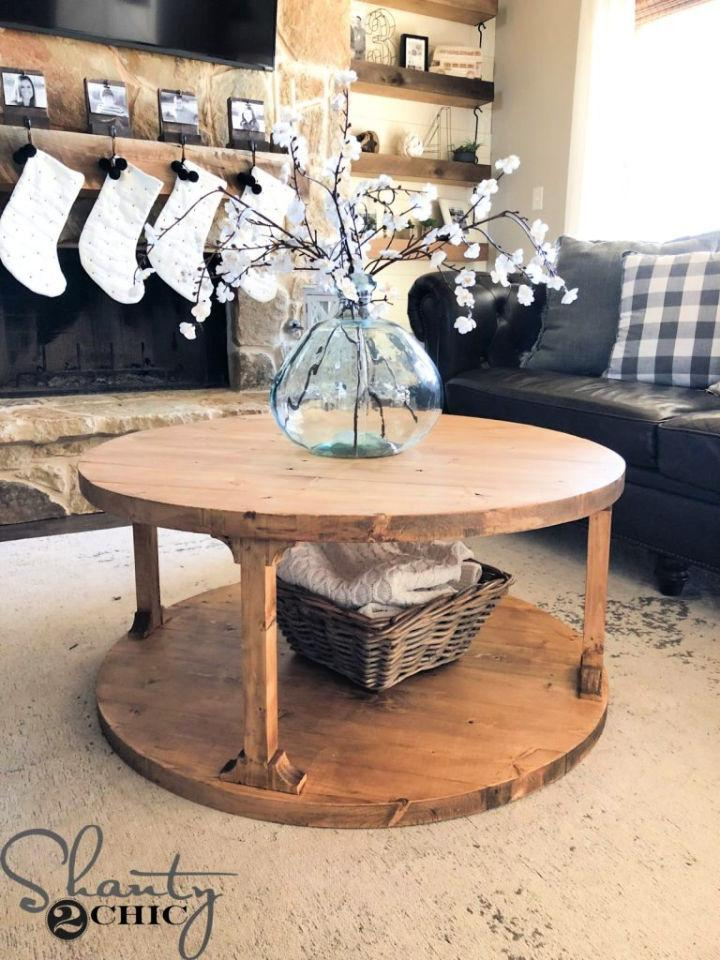 Make a Small Round Coffee Table
