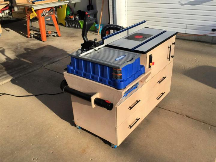 Mobile Router Table Combo