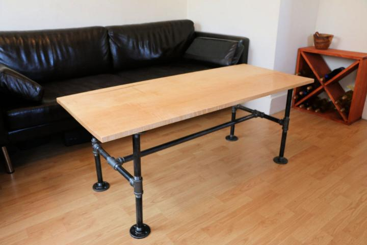 Modern Pipe Leg Coffee Table