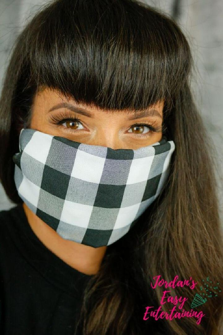 DIY No Sew Face Mask with Filter