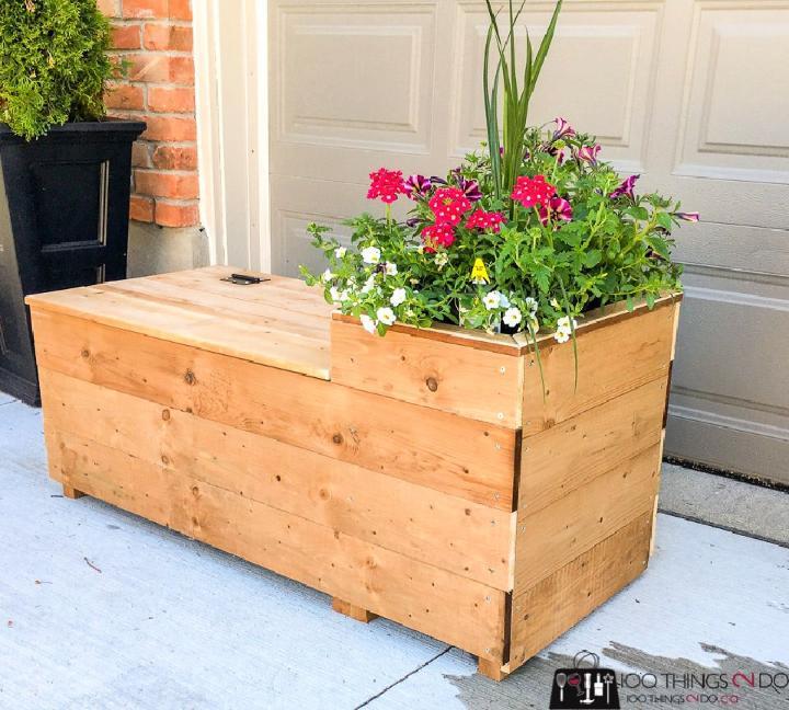 Porch Planter Bench Free Plan