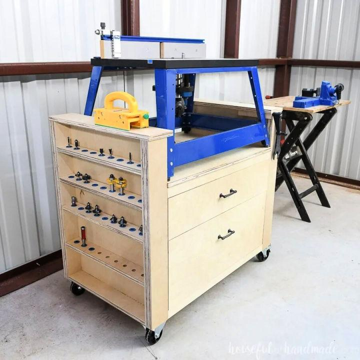 Rolling Bench Top Router Table