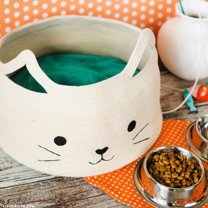 Rope Round Bowl Cat Bed