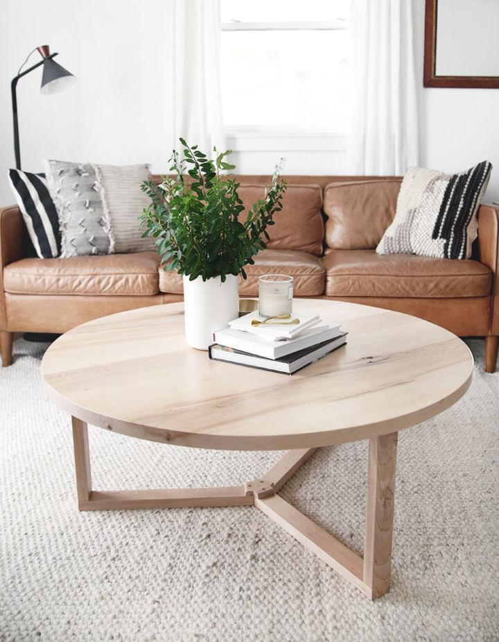 Round Coffee Table for Living Room