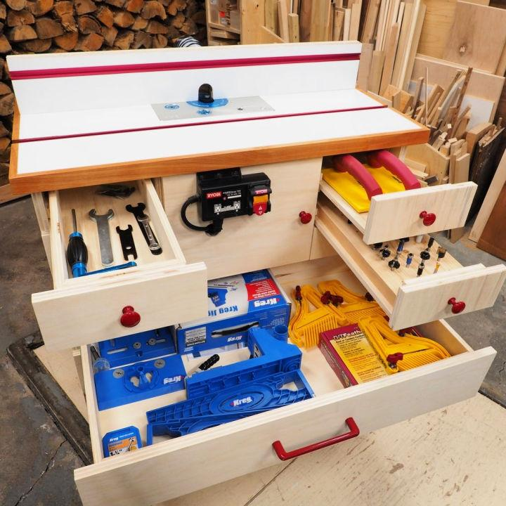 Router Table with Cabinet