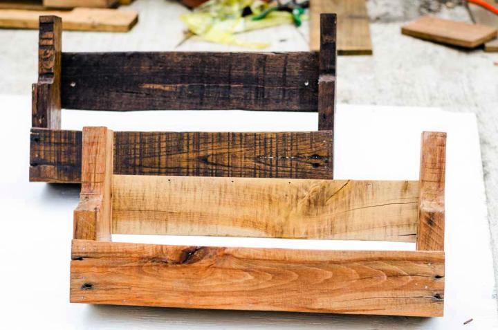 Rustic Pallet Wood Shelves