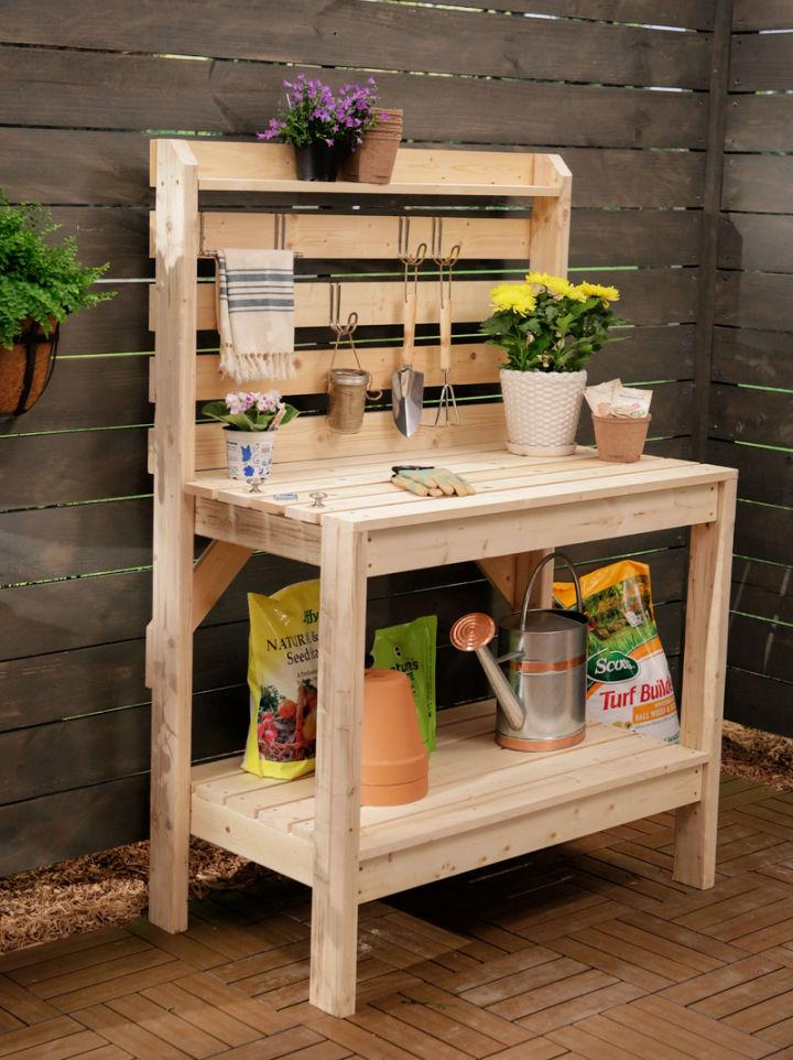 Simple 2x4 Potting Bench