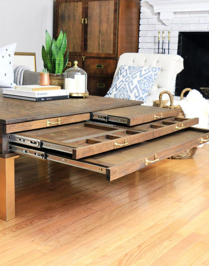 Space Saving Coffee Table with Pullouts