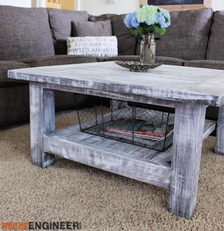 DIY Square Plank Coffee Table