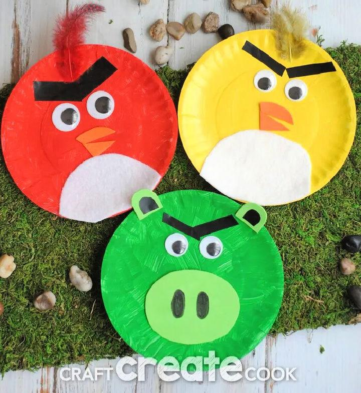 Angry Birds from Paper Plates Art
