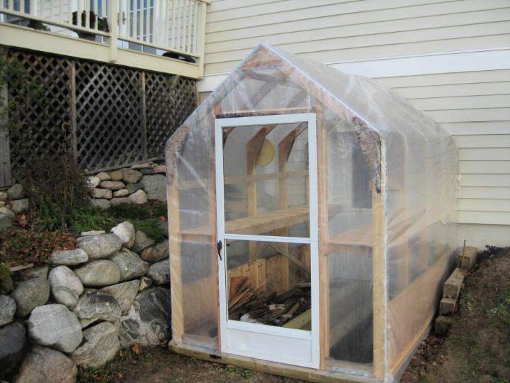 Back Door DIY Greenhouse 10 x 6 5