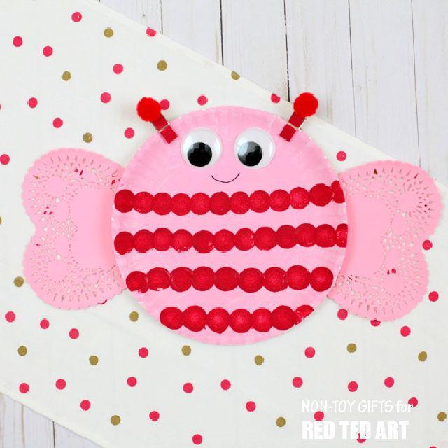 Bee Mine Paper Plate Valentines