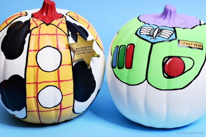 Buzz and Woody Toy Story Pumpkins
