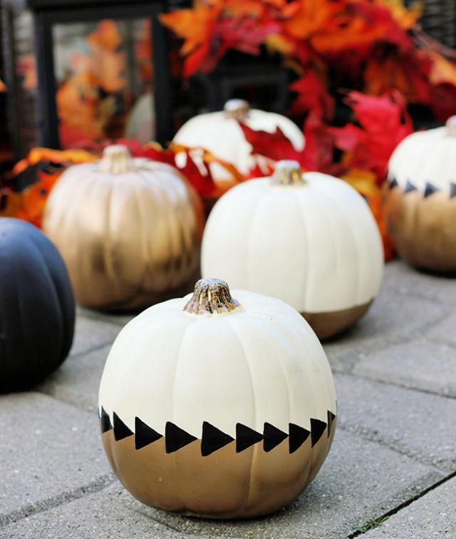 Chic Painted Fall Pumpkins