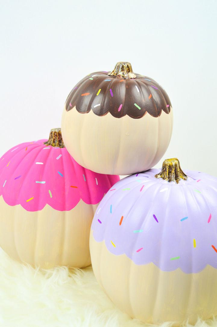 Creative Cupcake Painted Pumpkins