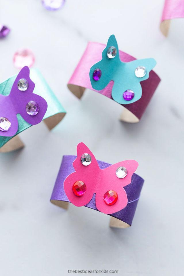 Toilet Paper Roll 3D Butterfly Bracelet