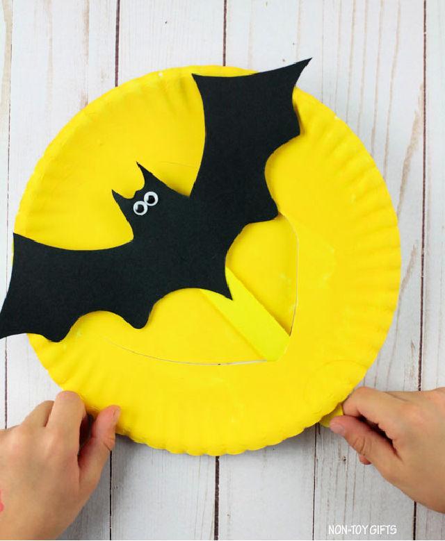 DIY Paper Plate Flying Bat