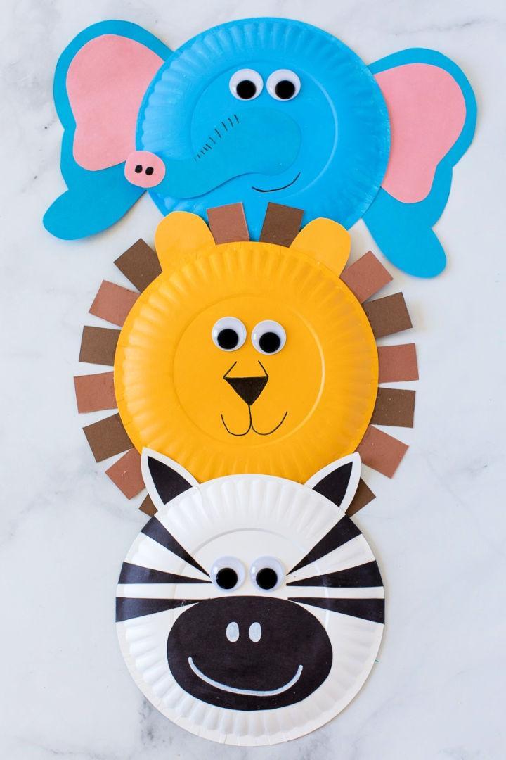 DIY Paper Plate Jungle Animals
