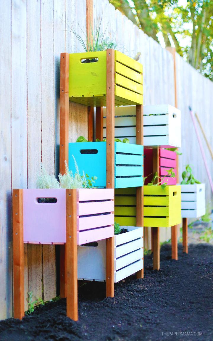 DIY Rainbow Vertical Garden