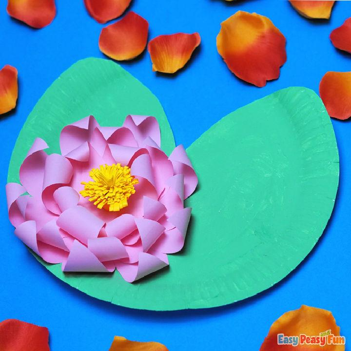 DIY Water Lily Paper Plate