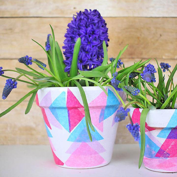 Decoupage Round Flower Pot