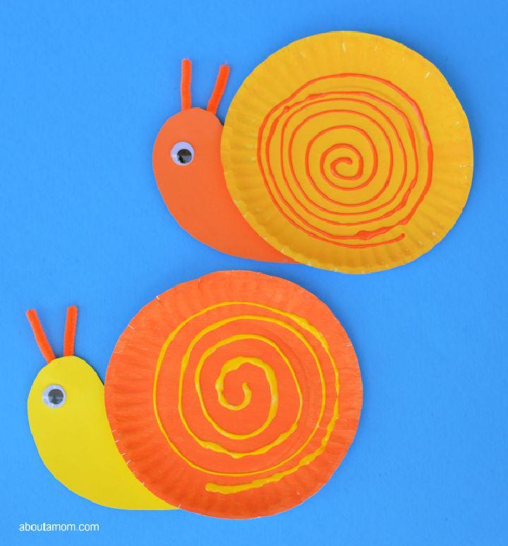 Easy DIY Pape Plate Snail