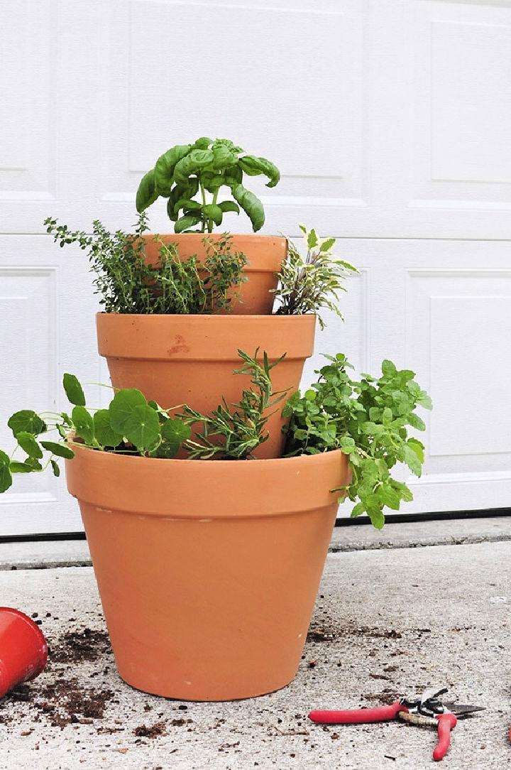 Easy DIY Stacked Herb Garden